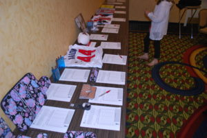 Silent auction....never easy for us ticcers!